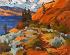 Blush hills & wild sage 24x30