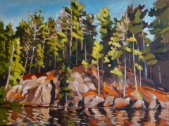 Northern Sunlit Shore SOLD oil SOLD