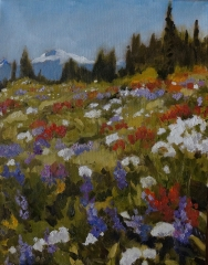 Mountain Meadow 11x14 oil~ see Hambleton Gallery