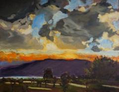 Okanagan Vineyard Sunset 22x28 oil