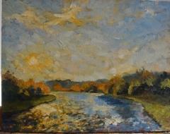 River of Light 11x14 oil