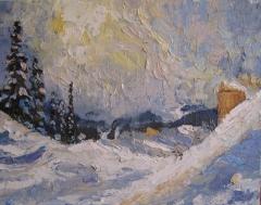 Ski-lodge  8x10