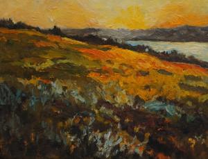 Hill at Sunset crop